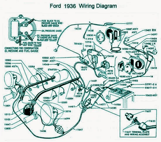 Ford 1936 Electrical System Wiring Diagram Electrical Winding
