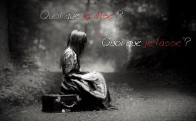 Image d'une femme triste et seule