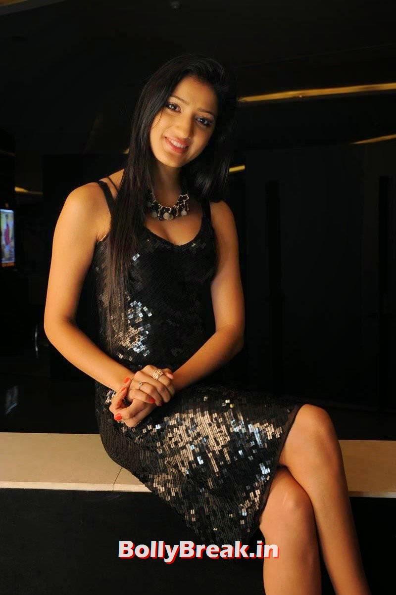 Richa Panai Photoshoot Stills, Richa Panai Hot Hd Pics in Shiny Black Short Dress