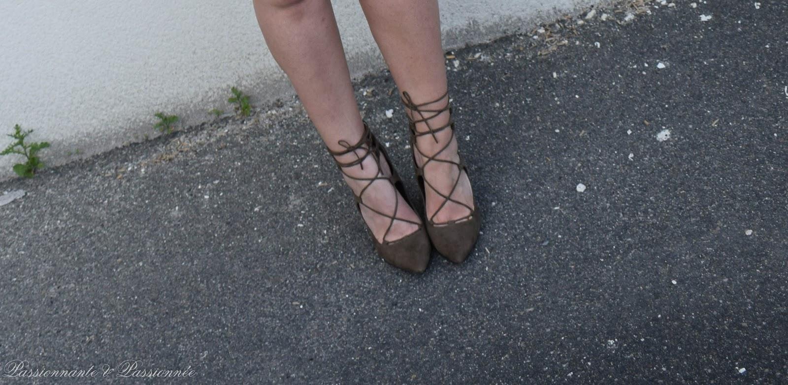 escarpins à lacets new look