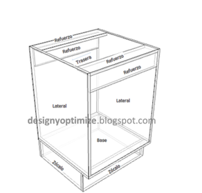 Dise o de muebles madera c mo hacer mueble de madera para for Planos para fabricar muebles de cocina