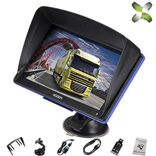 xgody Truck GPS Navigation for Car, 7 inches 8GB Lifetime Map Update Spoken  Turn-to-Turn Navigation