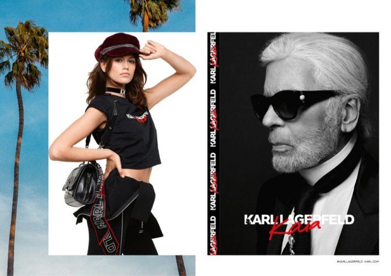 Karl Lagerfeld x Kaia Gerber Campaign