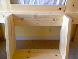 diy clubhouse bed ladder with carriage bolts