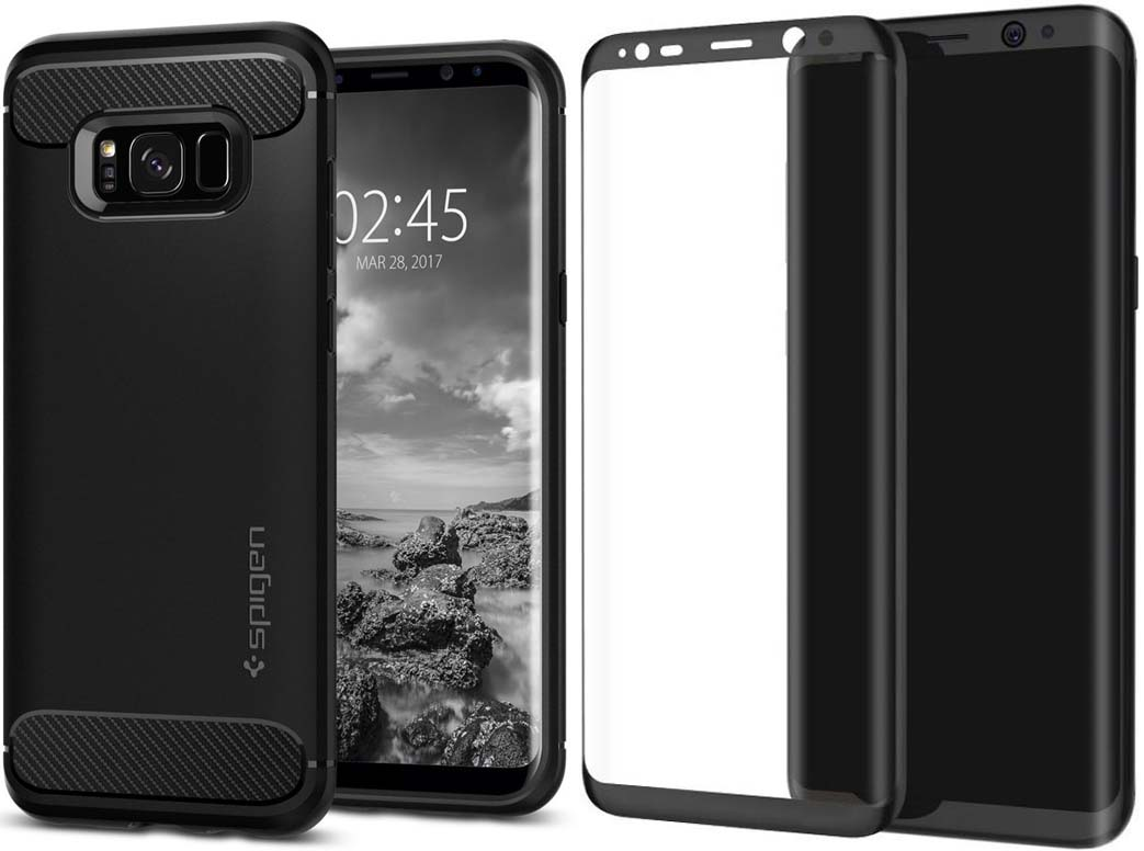 buy online 23817 dbd86 Samsung S8/S8 + Best Tempered Glass Screen Protector Cases and Covers