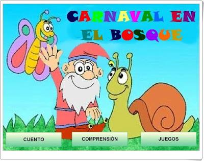 """""""Carnaval en el bosque"""" (Juego de comprensión lectora)"""
