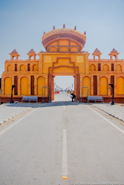 entrance of rann utsav tent city