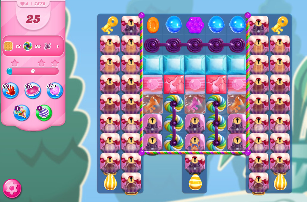 Candy Crush Saga level 7575