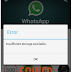 WhatsApp Tidak Bisa Update Karena Kurangnya Penyimpanan [SOLVED]