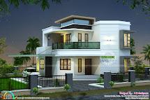 1838 Sq-ft Cute Modern House - Kerala Home Design And