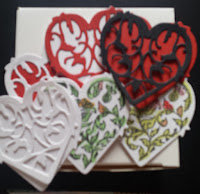 Gift box and heart options