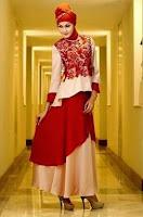 Model baju pesta gaun muslimah modern