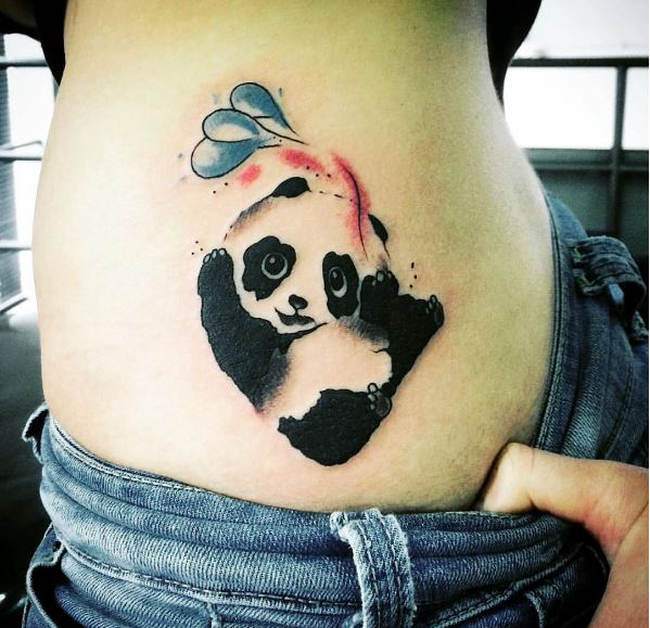 73a5d9d63 50+ Cute Panda Tattoos for Men (2019) Cool Small Designs | Tattoo Ideas