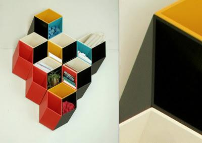 Librero imposible con reticula isometrica una idea muy creativa para decorar la pared