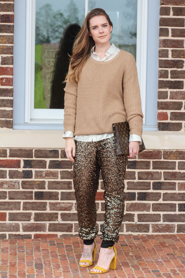 Holiday Outfits- Sequin Pants