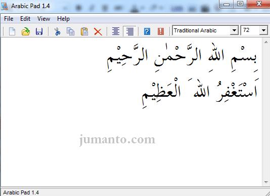 menulis arab di laptop