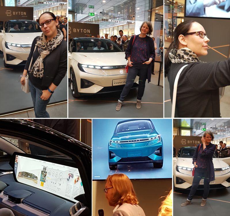 Elektroauto oder Conceptcar von Byton wird in München vorgestellt