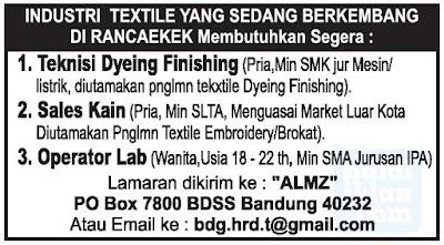 Loker Pabrik Textile Rancaekek