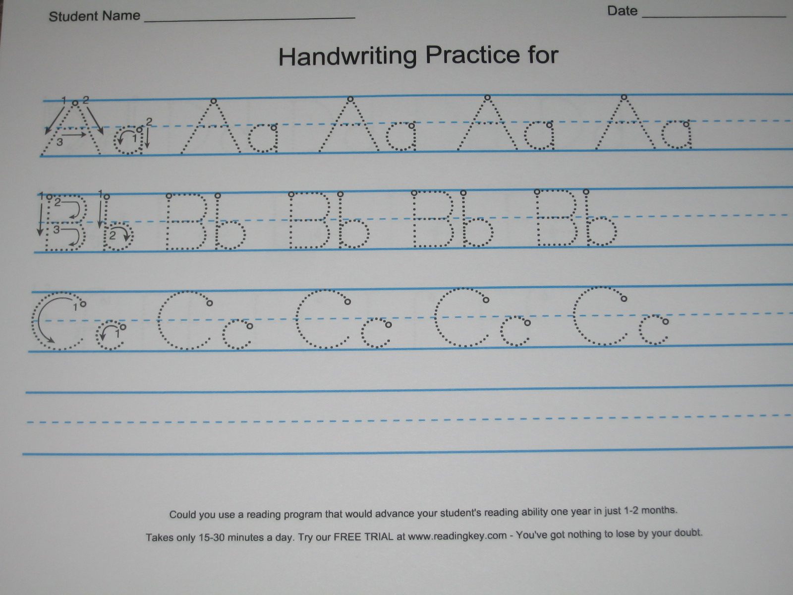 Make Your Own Handwriting Worksheet For Kids