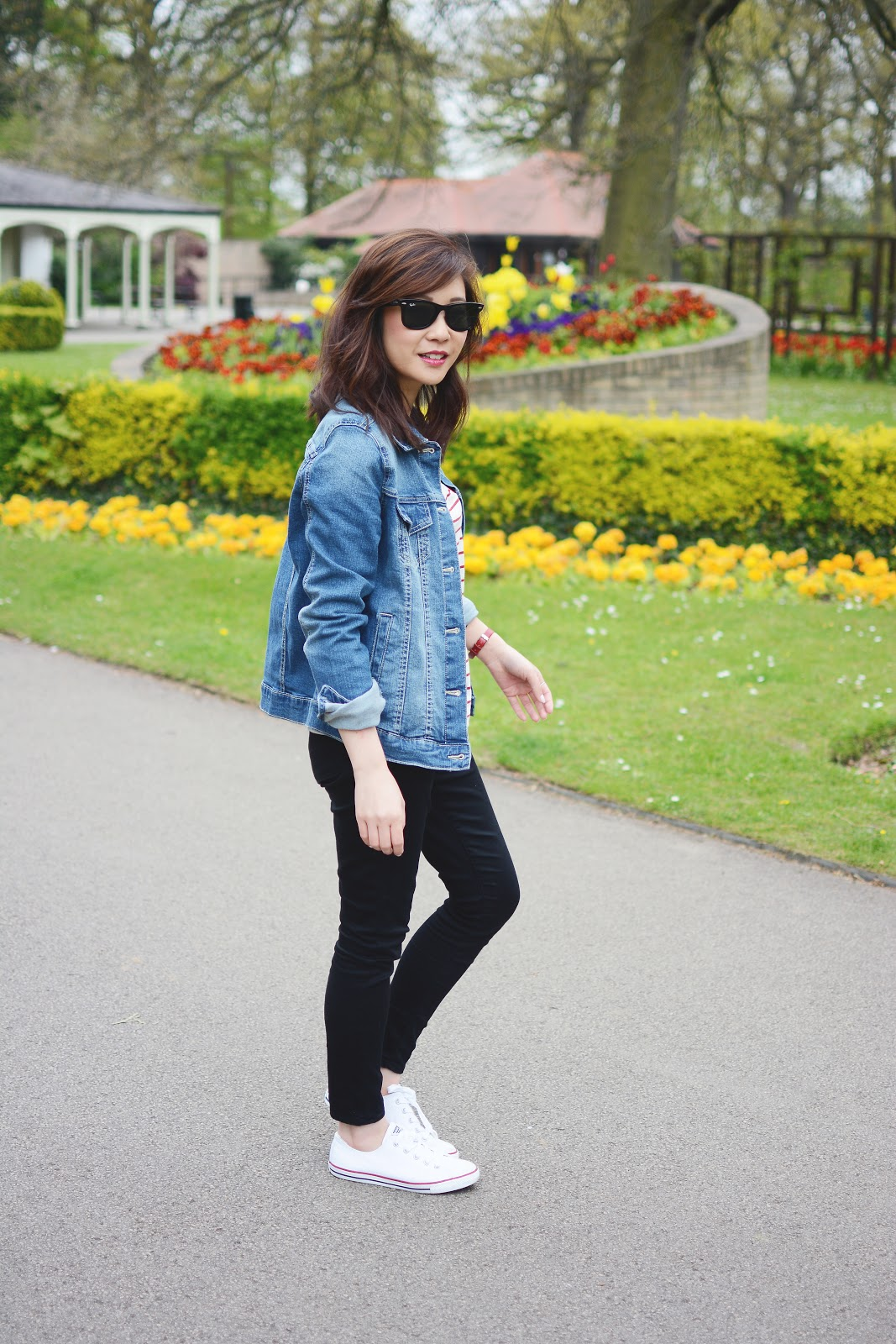 denim jacket, fashion blogger