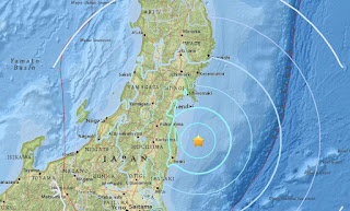 5.8-magnitude quake strikes off coast of Japan's Fukushima