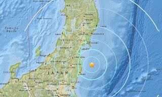 5.8-magnitude quake strikes off coast of Japan's Fukushima