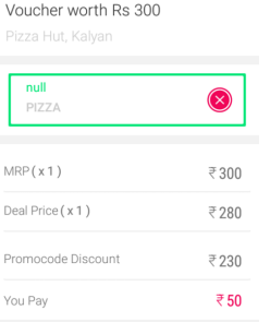 Little Deal Pizza Hut Loot Rs300 Voucher at Rs50