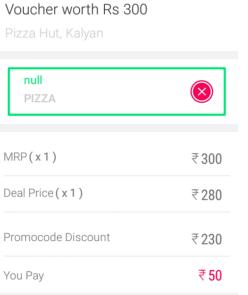 Little Deal Pizza Hut Loot Rs300 Voucher at Rs50