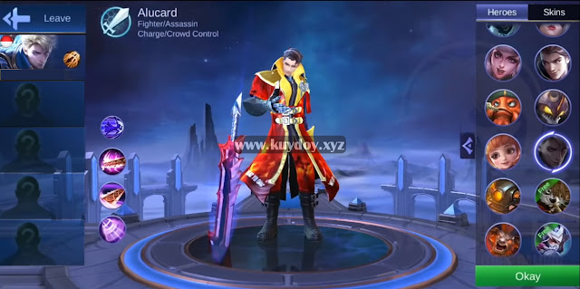Script MOD Skin Fire Legend Alucard Patch Terbaru