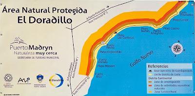 mapa de las playas de El Doradillo