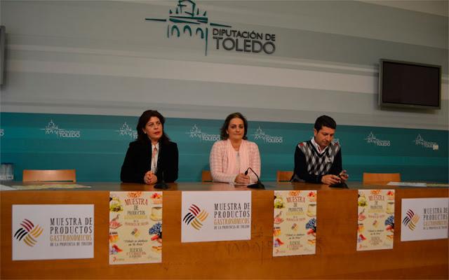 Presentación de la muestra gastronómica en la Diputacion de Toledo