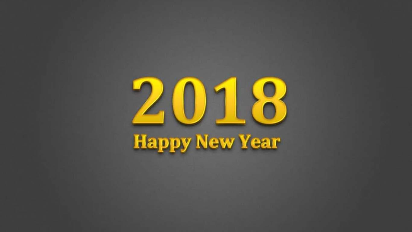 Mời tải về bộ ảnh nền desktop full HD chủ đề Happy New Year 2018