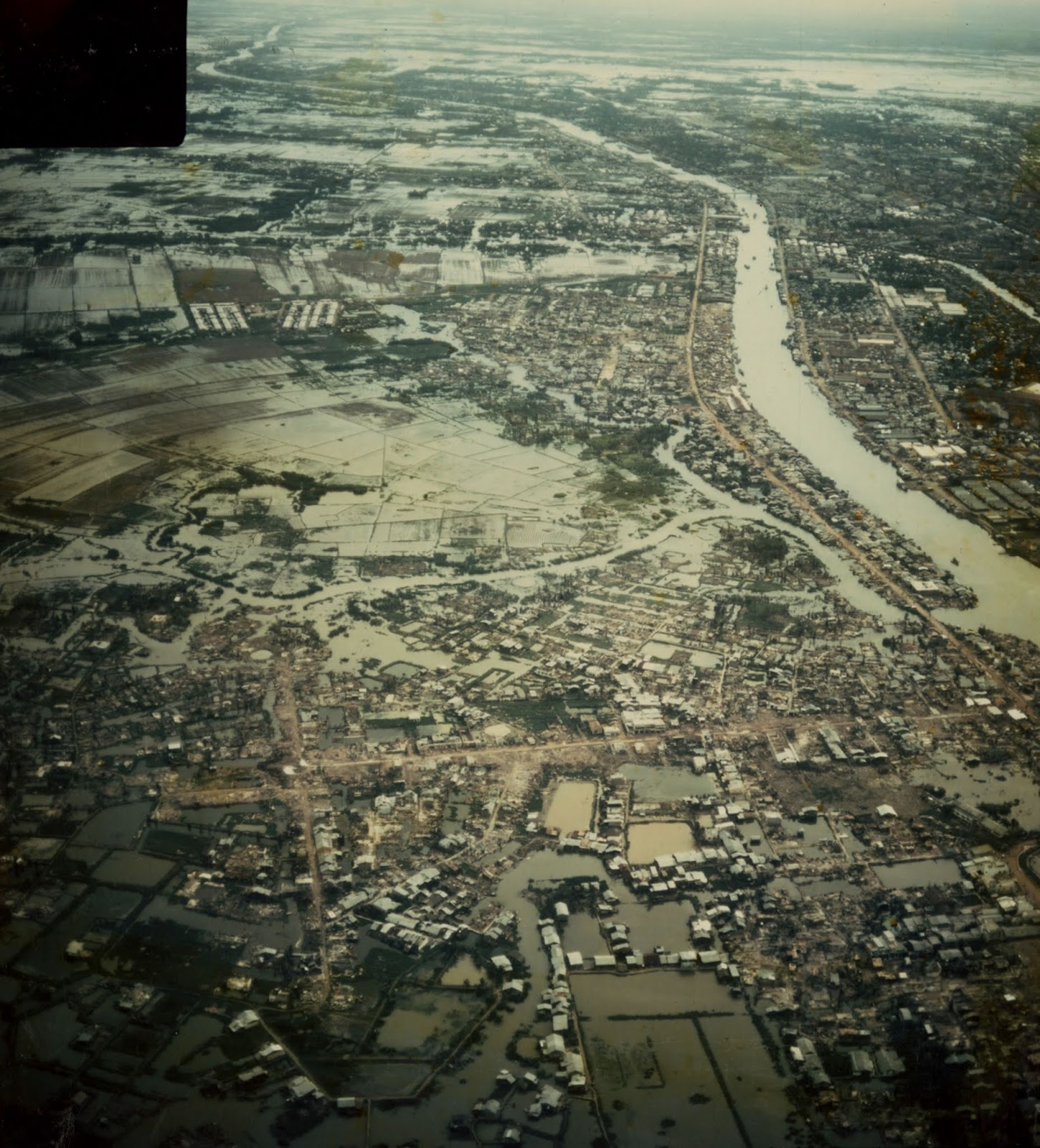1968 Aerial View of Saigon