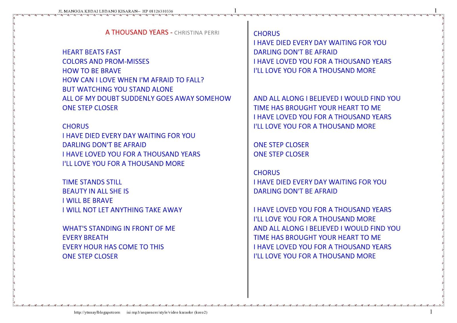 Song Book Buku Lirik Lagu Terlengkap Collection 5 Barat Mitra