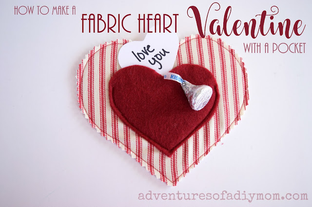 How to Make a Fabric Heart Valentine with a Pocket