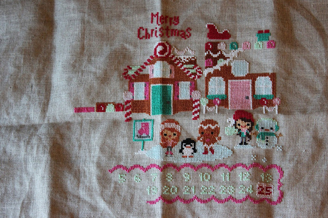 Frosted Pumpkin Stitchery - Christmas on Gingerbread Lane