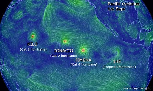 Rekord számú hurrikán a Csendes óceánon