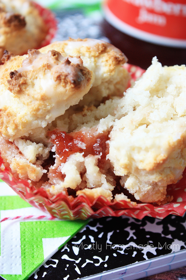 Sweet Strawberry Jam Muffins recipe