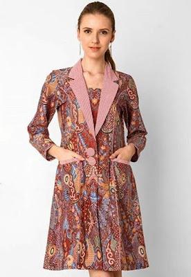 Baju Kebaya Kombinasi Batik Big Size Modern