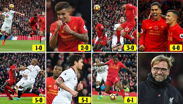 Liverpool take top spot of the Premier League table