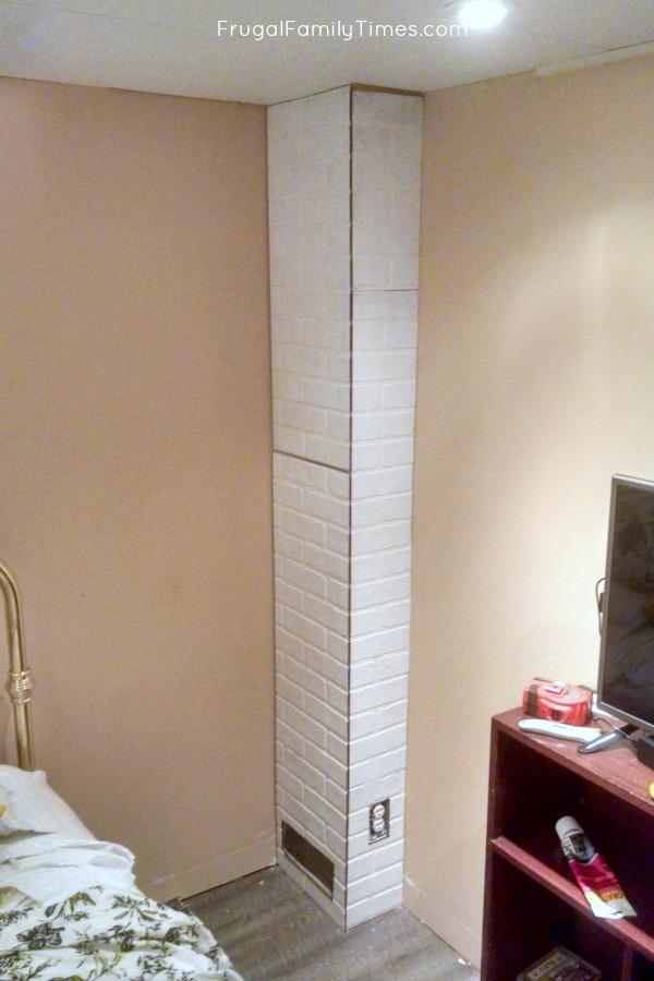 faux bricks install