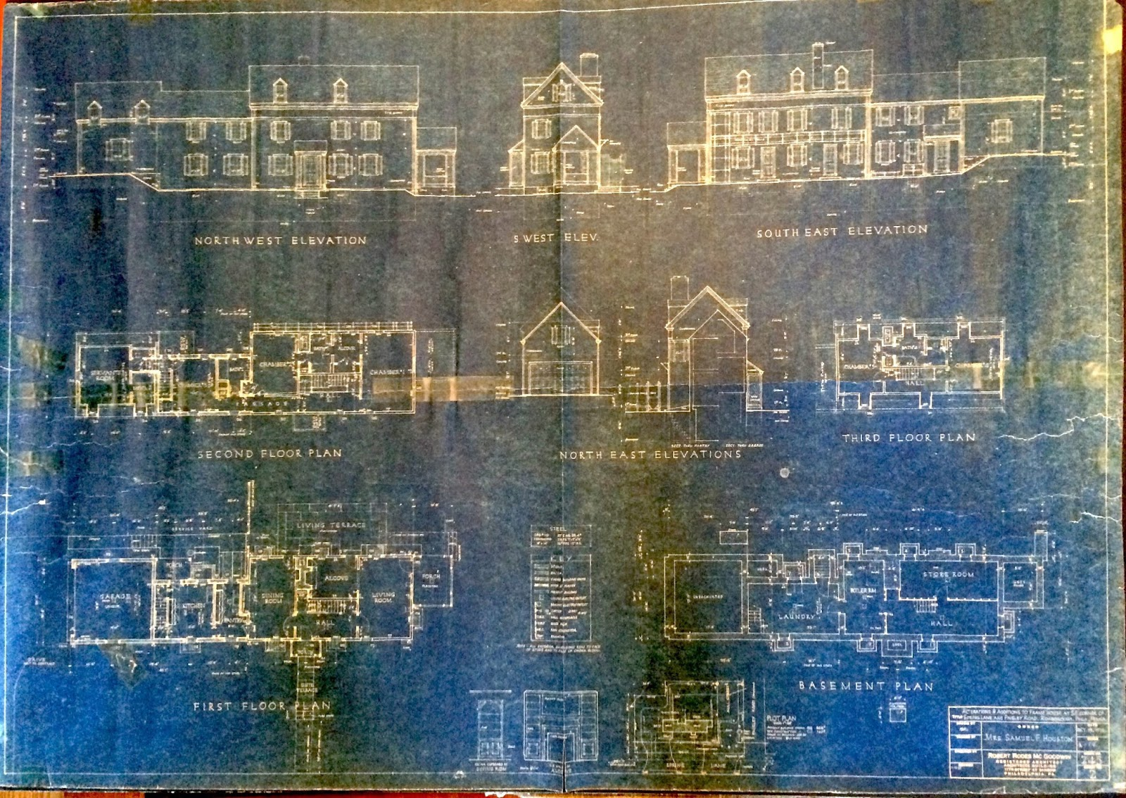 Interpreting historic house blueprints home scribe history scan of blueprint copy courtesy of the homes owner malvernweather Choice Image