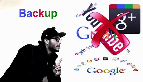 طريقة عمل نسخة احتياطية لقناتك يوتيوب وجميع منتجات جوجل