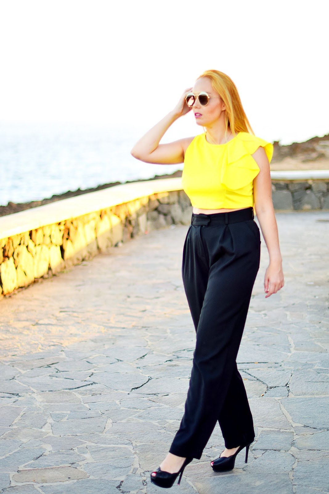 nery hdez, gucci, opticalh, palazzo pants, cndirect, blusa con volantes, crop top,