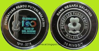 Perak Pruf RM10 100 Tahun Persatuan Pandu Puteri Malaysia