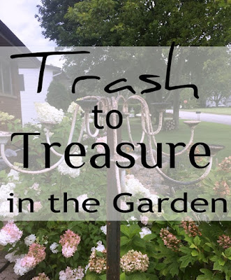 Yard art - trash to treasure in the garden