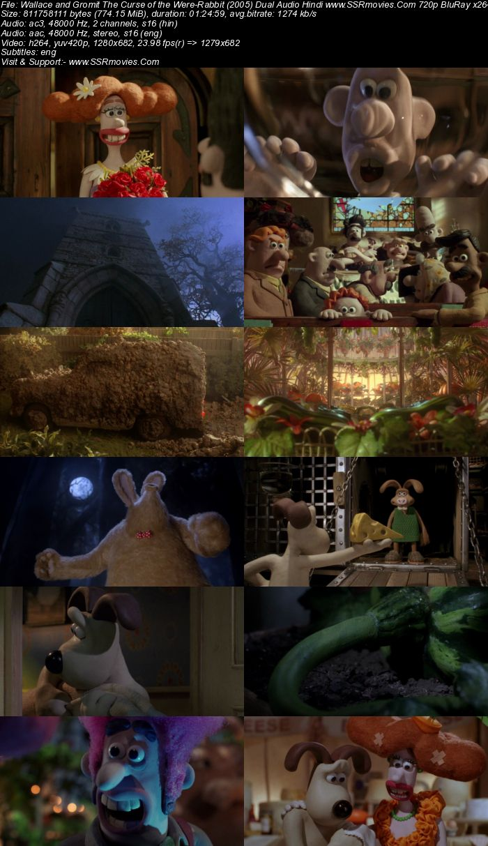 Wallace and Gromit (2005) Dual Audio Hindi 720p BluRay x264 750MB ESubs Movie Download