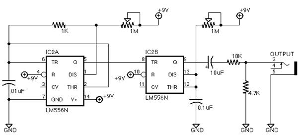 breadboarded circuit