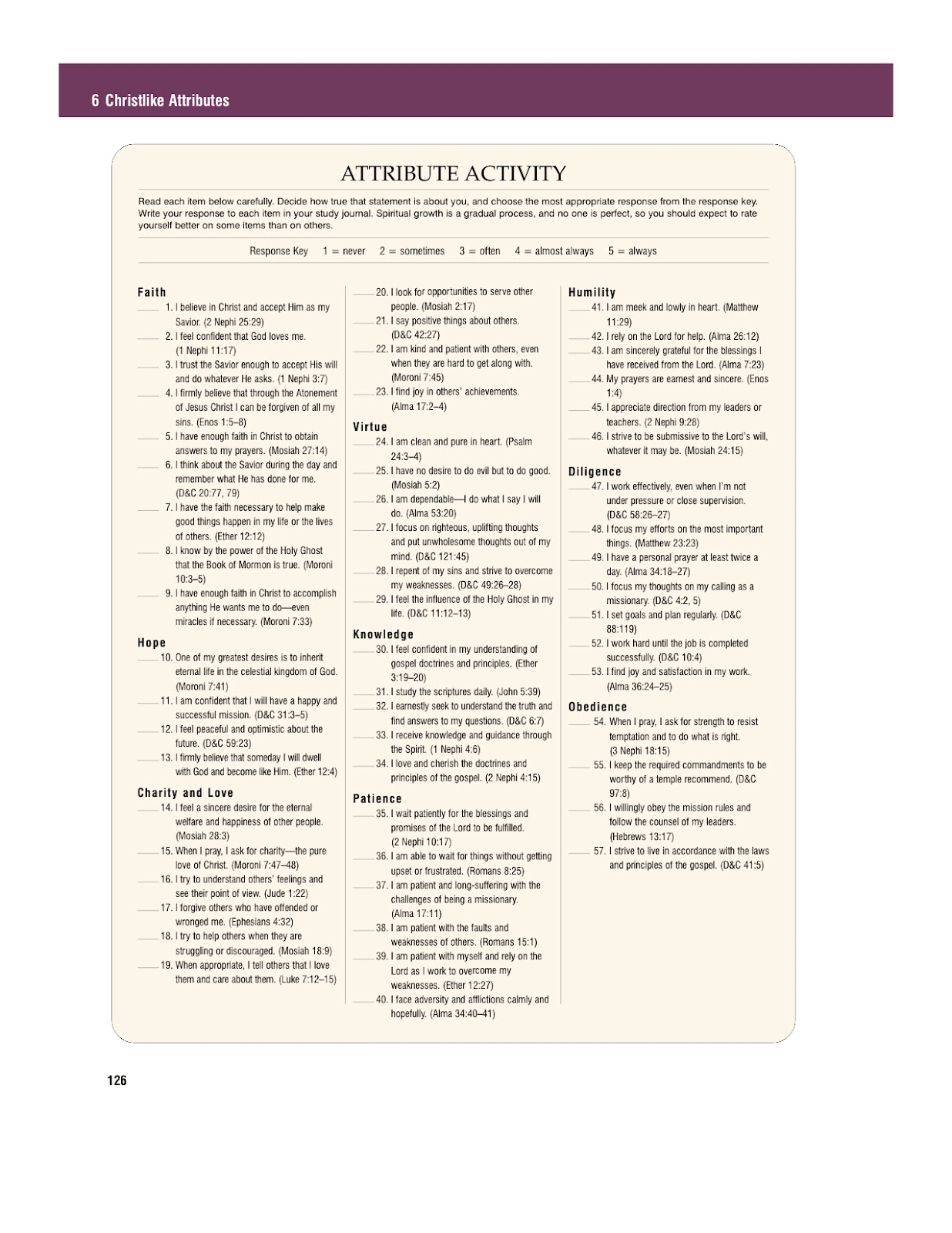 Charity never faileth book of mormon reading chart for Table attributes