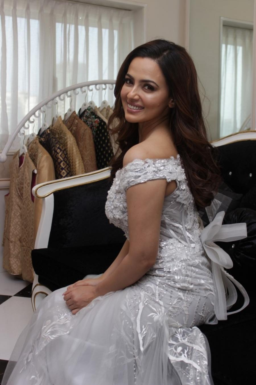 Bollywood Actress Sana Khan at London Paris Fashion Week